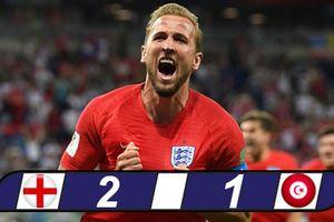 Kane tỏa sáng đúng lúc, Anh đánh bại Tunisia phút bù giờ