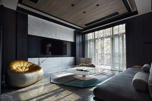 Ngôi nhà sang trọng với hai màu sắc đen và trắng