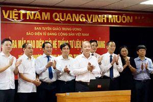 Báo Điện tử Đảng Cộng sản ra mắt giao diện mới 'Hệ thống Tư liệu - Văn kiện Đảng'