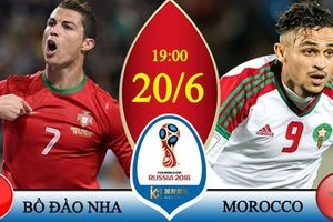 Xem bóng đá World Cup 2018, trận Bồ Đào Nha vs Ma Rốc trên VTV6