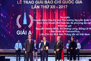 Toàn cảnh lễ trao Giải Báo chí quốc gia 2017