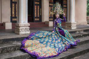 Chi Nguyễn mang áo dài và hình ảnh chim khổng tước đến Hoa hậu Châu Á Thế giới 2018