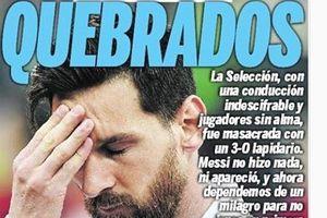 Báo chí Argentina: 'Messi chẳng đóng góp được gì tại World Cup 2018'