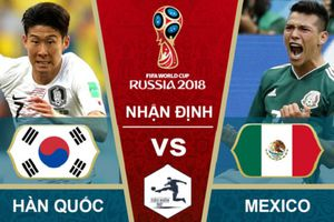 Dự đoán kết quả trận Mexico vs Hàn Quốc, World Cup 2018