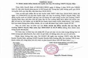 Sở GD-ĐT tỉnh Bà Rịa – Vũng Tàu đính chính và xin nhận lỗi vì công bố nhầm điểm chuẩn