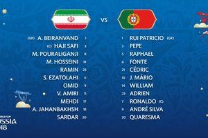 Đội hình ra sân trận Iran vs Bồ Đào Nha: Quaresma xuất trận