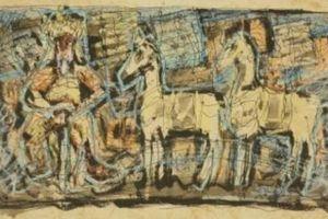 Phác thảo tranh quý của danh họa Nguyễn Gia Trí