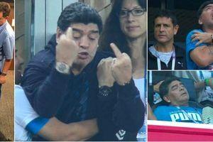 Maradona bị chỉ trích vì mừng Argentina vào vòng 1/8 bằng 'ngón tay thối'