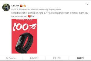 Mi Band 3 bán đắt như tôm tươi với 1 triệu sản phẩm sau 17 ngày ra mắt