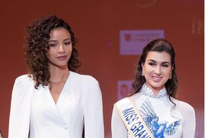 Miss Grand France 2017 diện áo dài đọ dáng Hoa hậu Pháp Flora Coquerel