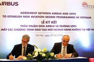 Airbus hỗ trợ USTH đào tạo hàng không tại Việt Nam