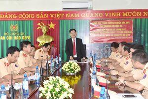 Trung tướng Nguyễn Văn Sơn kiểm tra công tác đảm bảo ATGT phục vụ GEF 6