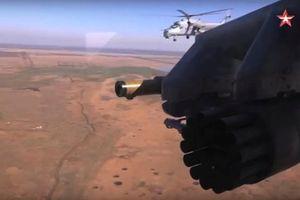 Trực thăng quân sự Nga nã hàng loạt rocket xuyên thép