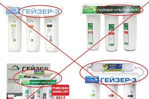 Cảnh báo nạn máy lọc nước không chính hãng tràn lan trên thị trường