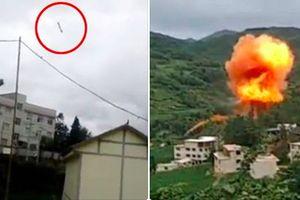 Mảnh vỡ tên lửa Trường Chinh nổ tung giữa khu dân cư TQ