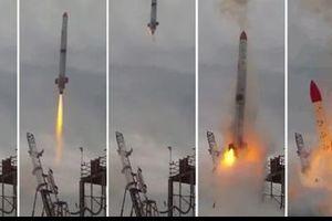 Tên lửa Nhật Bản phát nổ, bốc cháy dữ dội sau khi rời bệ phóng