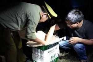 Nghệ An: Bắt xe ô tô vận chuyển gần 200 kg pháo các loại