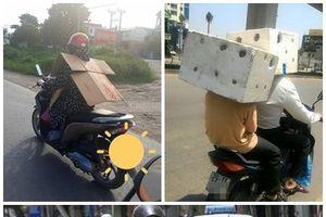 Bìa carton, thùng xốp - Cách chống nóng cười ra nước mắt của người Việt