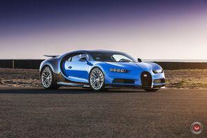 Bugatti Chiron đầu tiên trên thế giới độ mâm độc đáo