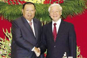 Tổng Bí thư Nguyễn Phú Trọng hội đàm với Tổng Bí thư - Chủ tịch Nước Lào Bounnhang Vorachith