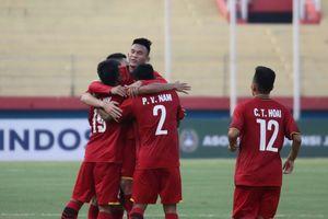 U19 Việt Nam vượt mặt Thái Lan sau trận thắng đậm Philippines