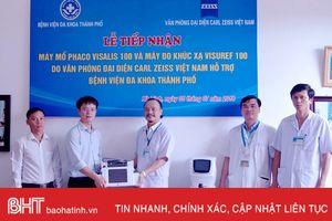 BVĐK thành phố Hà Tĩnh tiếp nhận thiết bị mổ mắt Phaco 2 tỷ đồng