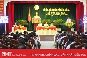 HĐND thành phố Hà Tĩnh thông qua 4 nghị quyết tại Kỳ họp thứ 8