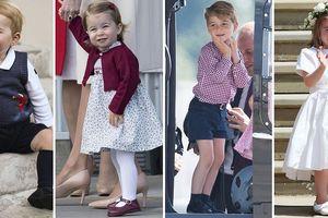Khoảnh khắc đáng yêu của Hoàng tử bé và Công chúa nhỏ nước Anh