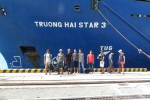 9 thuyền viên tàu An Phú 868 bị chìm trên biển đã vào bờ an toàn