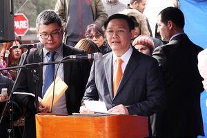 Phó Thủ tướng Vương Đình Huệ kết thúc chuyến thăm chính thức Chile