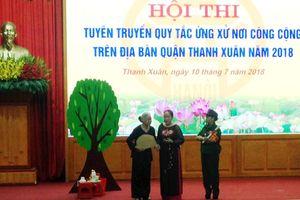 Thanh Xuân tổ chức thi tuyên truyền quy tắc ứng xử nơi công cộng