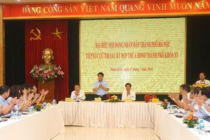 Chủ tịch UBND TP Hà Nội tiếp xúc cử tri quận Hoàn Kiếm