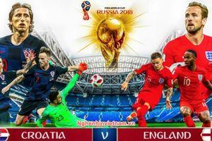 Bán kết 2 giữa Anh vs Croatia World Cup 2018: những cặp đối đầu đáng mong đợi