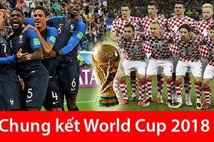 Lịch thi đấu chung kết World Cup 2018: Croatia đại chiến Pháp