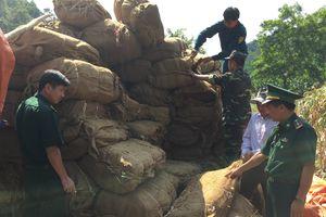 Đồn Biên phòng Bạch Đích điều tra nguồn gốc 14 tấn nguyên liệu thuốc lá khô vô chủ