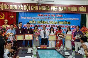 Hải Phòng trao hơn 1,8 tỉ đồng thưởng học sinh đạt giải quốc tế