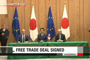 Nhật Bản, EU cam kết thúc đẩy thương mại tự do