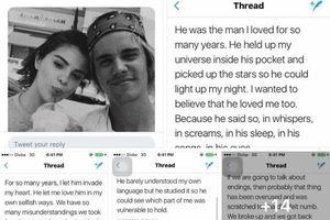 Xôn xao bức tâm thư đẫm nước mắt Selena Gomez gửi Justin Bieber