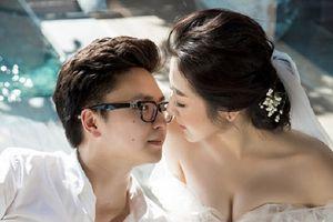 Hé lộ loạt ảnh cưới đầy lãng mạn của Á hậu Tú Anh và chồng thiếu gia