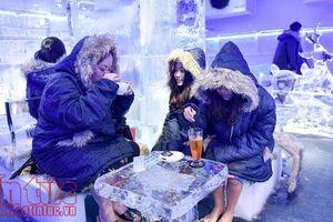 Trải nghiệm quán cà phê băng âm 10 độ C tại Hà Nội