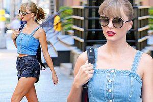 Taylor Swift eo thon chân dài gợi cảm xuống phố