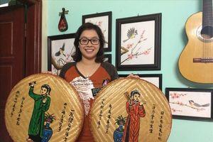 Cựu nữ sinh Hà Thành khởi nghiệp bằng vẽ tranh trên mẹt