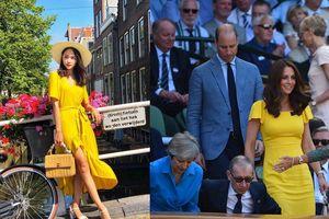 Mỹ nhân Việt đua nhau học theo' Công nương' hoàng gia Anh diện váy vàng rực rỡ