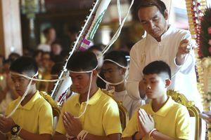 Đội bóng nhí Thái Lan lần đầu xuất hiện trước công chúng