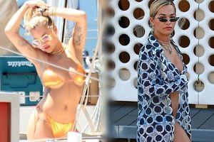 Rita Ora 'thiêu đốt' ánh nhìn với loạt bikini 'bỏng rẫy'