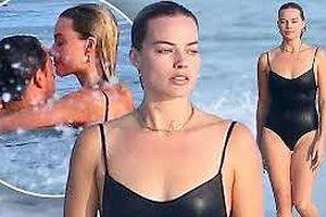 Vợ chồng mỹ nhân phim 'Suicide Squad' Margot Robbie ngọt ngào ở biển