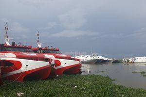Ảnh hưởng bão số 3: Tàu cao tốc trên biển Kiên Giang ngừng chạy