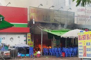 Hiện trường vụ cháy quán lẩu ở Hà Nội khiến 1 nhân viên thiệt mạng