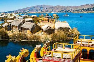 Độc đáo những hòn đảo biết di chuyển ở hồ nước Titicaca