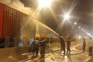 Nguyên nhân ban đầu vụ xe khách bốc cháy trên cao tốc Long Thành
